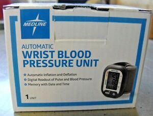 Medline Automatic Wrist Blood Pressure Monitoring Unit MDS 4003 Large LCD.NIB