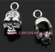 20pc Tibetan Silver skull Charm Beads Pendant accessories wholesale P376B