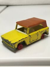 Matchbox No. 18 Field Car Yellow 1969 Made in England Lesney