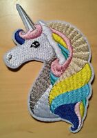 Einhorn Aufbügler / Aufnäher Bügelbild Applikation unicorn iron-on patch Kinder