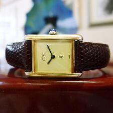 Ladies CARTIER Must De Cartier Vermeil Gold Sterling Silver Hand-Wind Watch