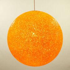 Granulat Pendel Leuchte Orange Kugel Lampe ∅ 38 cm Kunststoff