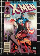 UNCANNY X-MEN 268 (Wolverine, Black Widow, Captain America, Jim Lee art) 1990 *