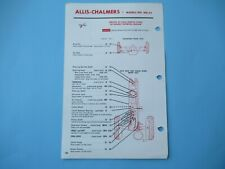 Allis Chalmers WD45 WD-45 tractor lubrication guide chart