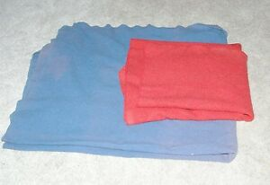 2 Vintage Northwest Orient Airlines NWA Wool Blankets Blue & Red