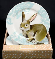 Ciroa Bunny Rabbit * 4 DINNER PLATES * Easter, New In Box