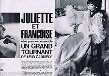 COUPURE DE PRESSE CLIPPING 1964 Juliette Gréco & Françoise Sagan (5 pages)