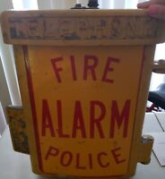 Very Old Vintage Emergency Police Fire Phone Box With Phone Still Inside