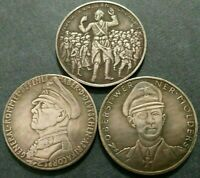 GERMAN MEDALS EXONUMIA TOKENS *** HISTORICAL EVENTS AND FIGURES *** SET OF 3 PCs