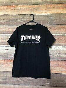 Thrasher Skateboard Magazine Men's Black T Shirt Size Medium