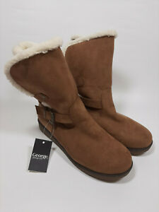Womens Ladies George Boots Brown Size UK 5 EU 38