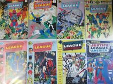 OFFICIAL JUSTICE LEAGUE OF AMERICA INDEX #1-8 (NM-) Full Set! 1986 Cool Read JLA