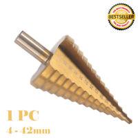 Durable Foret étagé HSS avec revêtement en titane pour conique foret 4-42mm