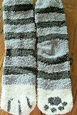 Women's Warm Fuzzy Striped House/Bed Socks NWOT