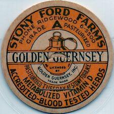 Milk Bottle Cap -(j84)- Stony Ford Farms - Stony Ford, New York -Golden Guernsey