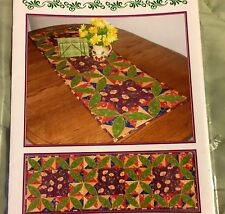 GINGERSNAP TABLE TOPPER Dog House Designs Quilt Pattern 16x48 Craft Sewing
