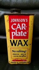 Vintage Johnson's Car Plate Wax Advertising Tin, Full!