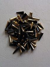 Spike beads dornenperlen 5 x 16 mm negro/oro 12 unid.