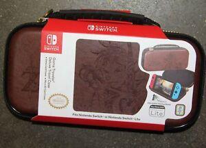 Nintendo Switch Game Traveler Deluxe Travel Case - Link zelda Brown Brand New