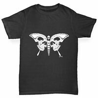 Twisted Envy Skull Butterfly Boy's Funny T-Shirt