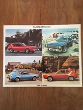 1975 AMC Gremlin Large Postcard Sales Brochure Excellent Original 75