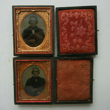 TWO AMBROTYPE OF THE SAME GENTLEMAN,WITH A BOW TIE