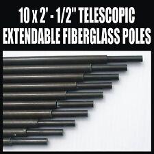 """X10 2' x 1/2"""" en fibre de verre télescopique extensible polonais amateur ham radio antenne"""