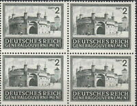 Stamp Germany Poland General Gov't Mi 113 Sc N100 Block 1943 WWII Castle MNH