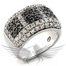 Brilliant Rhodium Ruthenium Micro Paved Cubic Zircon CZ AAA Fashion Ring 9w110