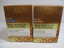 2 LOREAL AGE PERFECT HYDRA NUTRITION DAY & NIGHT CREAM 1.7oz EA EXP 5/21+JL 8008