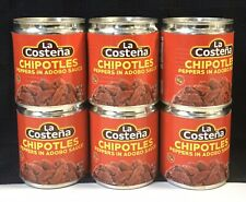 6 Pack La Costeña Chipotle Pepper In Adobo Sauce, 7 Ounce Cans(X)