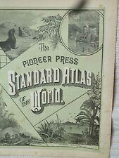 Vintage 1888 State Maps  14x 9  The Pioneer Press  Standard Atlas Maps