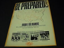 Freddie & The Dreamers Be Prepared Rare Preserved vintage Promo Poster Ad Tour