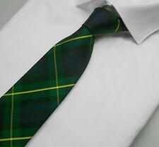 NWT Battisti Napoli Tie Green Tartan Plaid 100% Silk Made in Italy