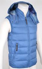 NEW BURBERRY BRIT CORNFLOWER BLUE GOOSE DOWN NOVA CHECK PUFFER VEST JACKET~S