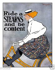 1896 Stearns Bicycles Advertisement Fine Art Print / Poster