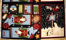 "Debbie Mumm Artic Holiday North Pole Christmas Stockings Socks Fabric Panel 23"""