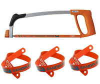 """BAHCO 317 (300mm) 12""""  Heavy Duty Metal Hacksaw Plus 4 x 24TPI Sandflex Blades"""