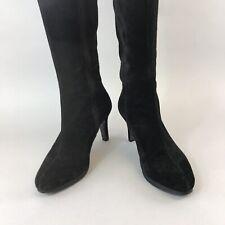Boden LADIES KENSINGTON BLACK leather stretch knee-high boots AZ219 BRAND NEW