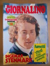 GIORNALINO n°7 1980 Spugna Asterix Quartiere 9T + Poster I. Stenmark [G409A]