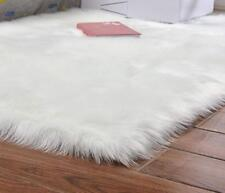 Plush Faux Fur Sheepskin Rug Faux Fur Rug Chair Cover Seat Pad For Bedroom Sofa