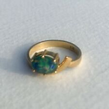 Opal and 18ct Gold Ring   Size J/K Approx   2.73g