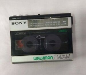 Vintage Sony WM F15 FM/AM Stereo Cassette Player Walkman Japan Untested As-Is.