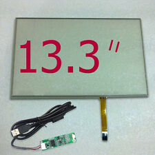 "13.3"" Touch Digitizer Glass 296.4*191.4mm Screen Panel + USB Controller Kit"