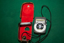 Gossen Luna Pro Exposure Meter & Case – Tested w/New Batteries
