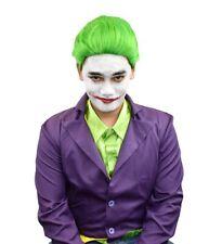 Jokester Wig Short Green Superhero Villain Adults Kids Halloween Joker Hair