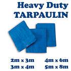 4 Sizes of Heavy Duty Tarpaulin Blue Waterproof Strong Cover Ground Sheet Tarp