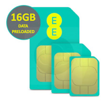 EE 4G PAYG Multi SIM Card Preloaded With 16GB Data for 30 Days