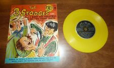 VINTAGE 1950s 3 STOOGES *ALL I WANT FOR XMAS & I GOT A COLD FOR...* 78RPM RECORD