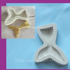 Mermaid Tail MEDIUM silicone mold for chocolate, fondant clay. Molde cola sirena